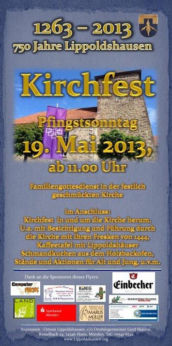 Kirchfest am 19. Mai 2013 -Pfingstsonntag-