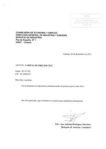 tarifa applus - Gobierno del principado de Asturias