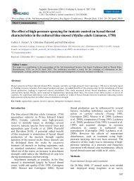 The effect of high-pressure spraying for tunicate control on byssal ...