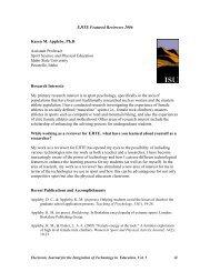 Karen Appleby, PhD - Electronic Journal for the Integration of ...