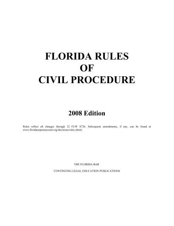 florida rules of civil procedure - Pinellas County Clerk of the Circuit ...