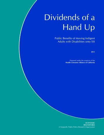 Dividends Of A Hand Up
