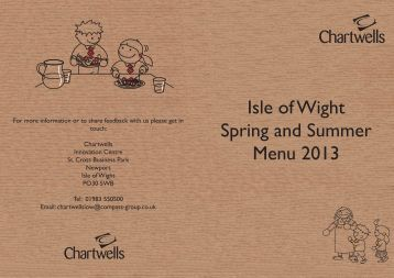Isle of W Spring and S Menu 2 Isle of Wight Spring and Summer ...