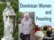 Dominican Women and Preaching - Dominican Sisters