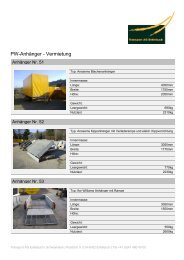PW-Anhänger - Vermietung - Transport AG Entlebuch