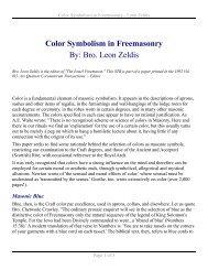 Color Symbolism in Freemasonry - Leon Zeldis - Pictou Masons
