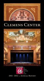 Clemens Center's 2011-12 Annual Report