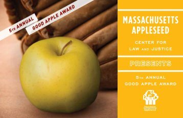 2012 Good Apple Program Book - Massachusetts Appleseed Center ...