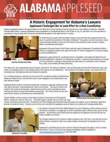 View Newsletter - Alabama Appleseed