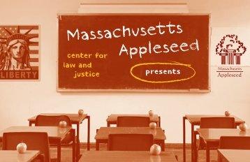 2011 Good Apple Program Book - Massachusetts Appleseed Center ...
