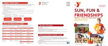 Sports, Teens and Specialty Camps APPLETON YMCA