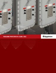 Appleton Panelboards Brochure - Emerson Industrial Automation