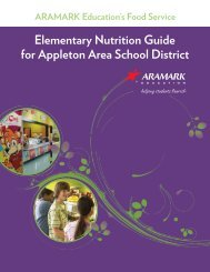 Elementary Nutrition Guide for Appleton Area School District