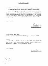 Information under RTI regarding suspected cases of occupational