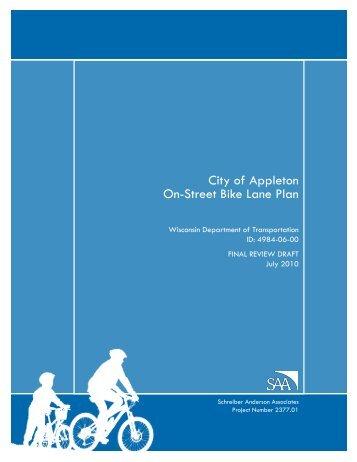 City of Appleton On-Street Bike Lane Plan