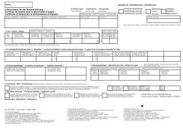 Lohnausweis für die Steuererklärung Certificat de ... - KMU Plus AG
