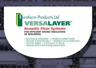 Acoustic Floor Systems - RIBA Product Selector