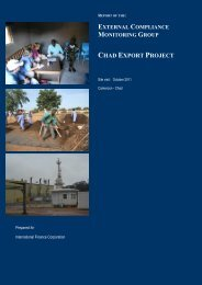 CHAD EXPORT PROJECT - IFC