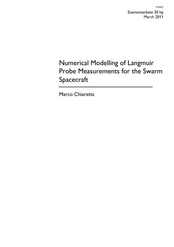 Numerical Modelling of Langmuir Probe Measurements for the ...
