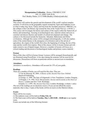 Mesopotamian Civilization - Humis.utah.edu - University of Utah