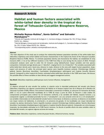 Habitat and human factors associated with white-tailed deer density ...