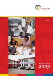 Annual Report Ghana - ProCredit