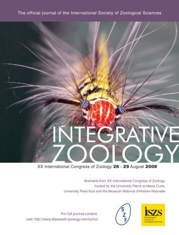 CONTENT - International Society of Zoological Sciences