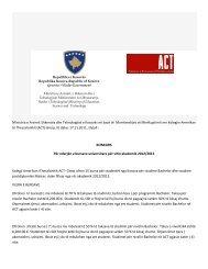 MASHT e Kosovs në bazë të Marrëveshjes së - Ministria e Arsimit