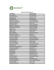 Northeast Swale Plant List