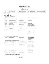 Vascular Plant Species List