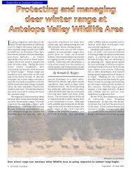 Antelope Valley Wildlife Area Deer Management - California ...