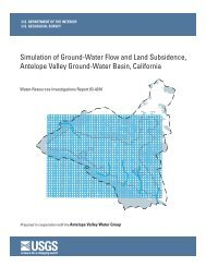Simulation of Ground-Water Flow and Land Subsidence, Antelope ...