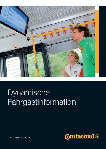 Dynamische Fahrgastinformation - Trapeze