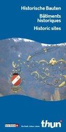 Historische Bauten Bâtiments historiques Historic sites - Thun