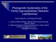 Phylogenetic Systematics of the Family Ogcocephalidae (Teleostei ...