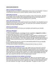 SHOULDER BURSITIS.pdf - 811 - Nova Scotia Telecare Service