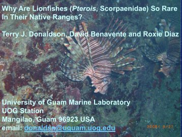 Why Are Lionfishes (Pterois, Scorpaenidae) So Rare In Their Native ...