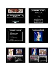 Musculoskeletal Ultrasound in OA – Knee - oarsi