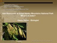 Ash Resources at Great Smoky Mountains National Park What's at ...