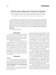 Tuberculous Bursitis with Rice Bodies