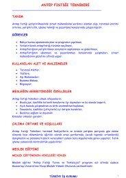 antep fıstığı teknikeri - Türkiye İş Kurumu