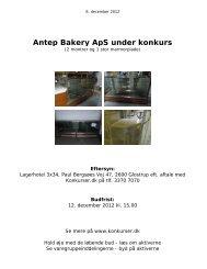 Antep Bakery ApS under konkurs - konkurser.dk