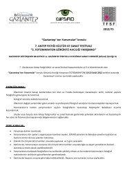 """2012/75 """"Gaziantep' ten Yansımalar"""" konulu 7. ANTEP ... - GİFSAD"""
