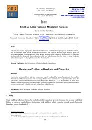 Fındık ve Antep Fıstığının Mikotoksin Problemi Mycotoxins Problem ...