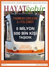 sayı 9 2012 ilkbahar - Gaziantep Büyükşehir Belediyesi