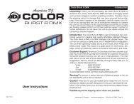 Color Burst 8 DMX - American Musical Supply