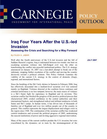 Iraq Four Years After the U.S.-led Invasion - PolicyArchive