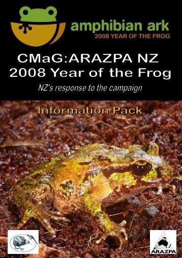CMaG: ARAZPA NZ Infopack - Amphibian Ark