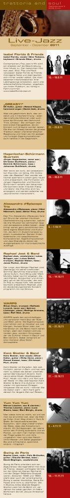 Live-Jazz - Trattoria & Soul