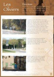 Les Oliviers Directions Master.pdf - St. Tropez Villa